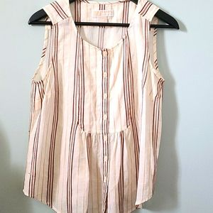 MK Sleeveless Striped Babydoll